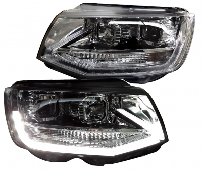 Scheinwerfer VW T6 chrom Lightbar LED Tagfahrlicht
